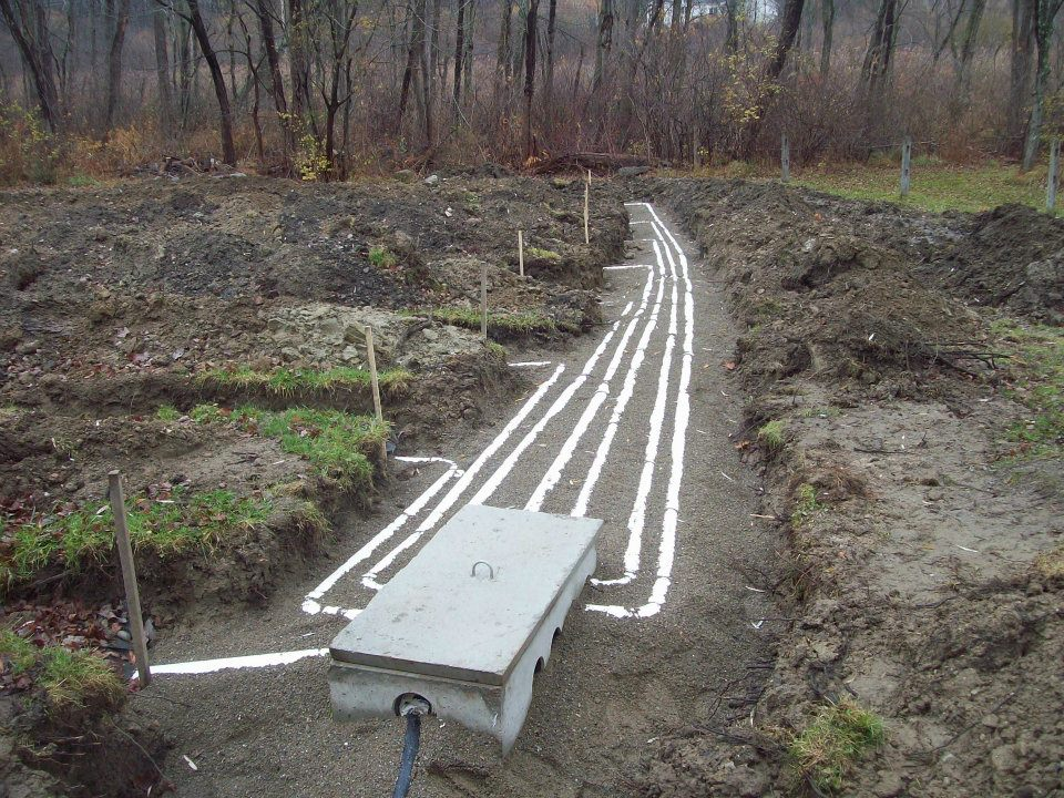 Septic system repair in mahopac ny precision excavating for Septic tank distribution box location